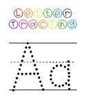Pre-K Letter Tracing Worksheets