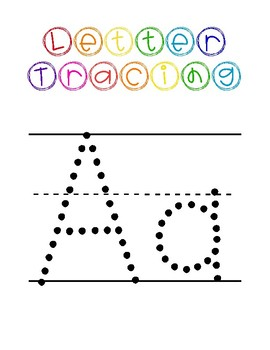 Pre-K Letter Tracing Worksheets by Apples and Pencils | TpT