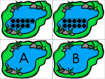 Pre-K Letter and Ten Frame Number Matching