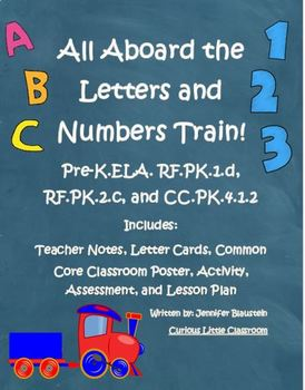 Pre-K Letters and Numbers- All Aboard the Letter and Number Train!