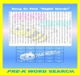 Pre-K Level Word Search