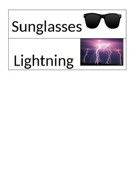 Pre-K Light Unit Vocabulary