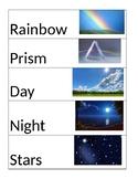 Pre-K Light Unit Vocabulary