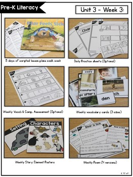 Pre-K Literacy Curriculum Units BUNDLED