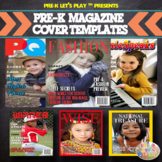 Pre-K Magazine Template Covers | Perfect Family Gift For G