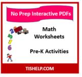 Pre-K Math Activities Interactive Worksheet