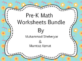 Math Bundle For Pre-K  Worksheets Common Core States Stand