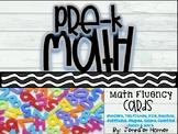 Pre-K Math Fluency Cards