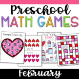 Pre-K Math Games for February