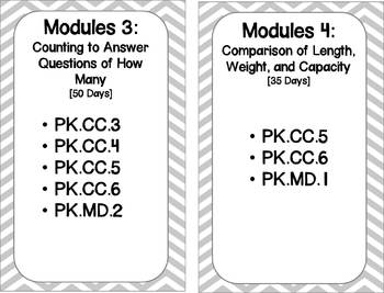 """Pre-K Math Modules Aligned with Common Core """"I Can"""""""