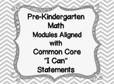 "Pre-K Math Modules Aligned with Common Core ""I Can"""