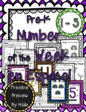 Pre-K Math Numbers 1-5 Number of the Week en Espanol