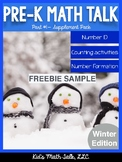 Pre-K Math Talk Part 1 - Number ID Winter Edition FREEBIE