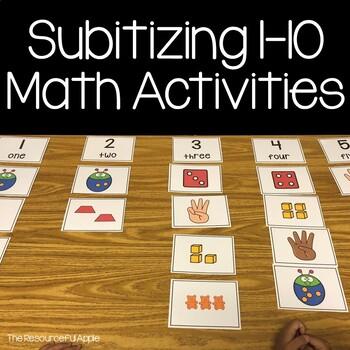 Subitizing Activities for Pre-K