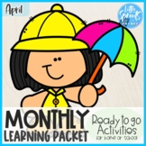 Pre-K Monthly Learning Packet [Ready to Go Activities] ● A
