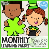 Pre-K Monthly Learning Packet [Ready to Go Activities] ● March