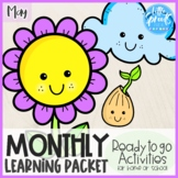 Pre-K Monthly Learning Packet [Ready to Go Activities] ● M