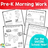 Pre-K Morning Work for the ENTIRE School Year