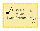 Pre-K Music I Can Statements