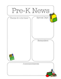 Pre-K Newsletter School Theme