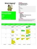 Pre K November Calendar/Newsletter