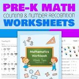 Pre-K Number Counting Worksheets (Week 2)