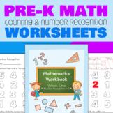 Pre-K Number Recognition Worksheets (Week 1)