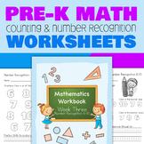 Pre-K Number Recognition Worksheets (Week 3)