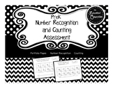 Pre-K Number Recognition and Counting Assessment FREEBIE
