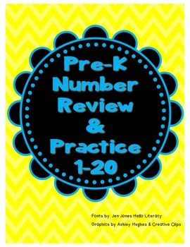 Pre-K Number Review & Practice 1-20