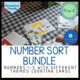Pre-K Number Sort Activity BUNDLE for Numbers 1-3