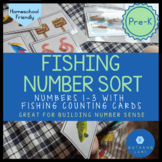 Pre-K Number Sort Activity for Numbers 1-3 Fishing Number Center