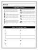 Pre K Number Task Cards and Worksheet