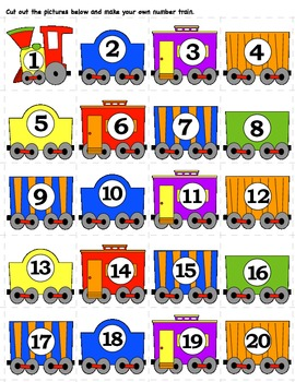 Pre K Number Train Pack By Angel Pack Teachers Pay Teachers