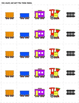 Pre-K Number Train pack