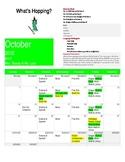 Pre K October Calendar/Newsletter
