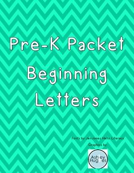 Pre-K Packet Beginning Letters