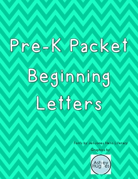 Pre-K Packet Beginning Letters