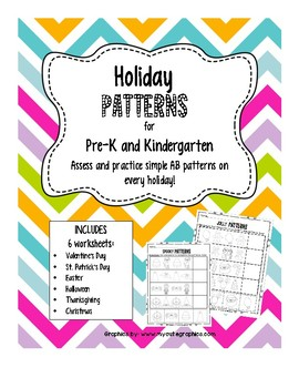 Pre-K Patterns HolidayWorksheet Set