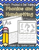 Pre-K Phonics & D'Nealian Handwriting Skill Building Packet