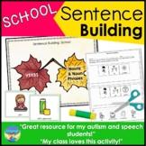 Sentence Building Picture Activities- School Theme