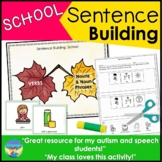 Sentence Building School Picture Activities for Special Education
