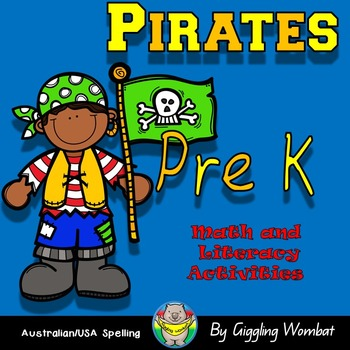 Pirate Pack PreK Math and Literacy Activities