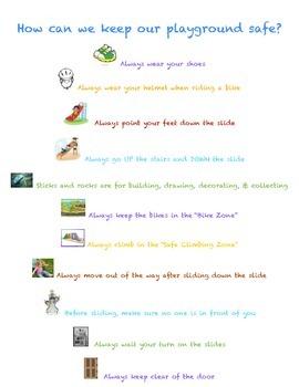 Pre-K Playground Rules
