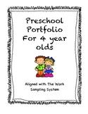 Pre-K Portfolio for 4 year olds