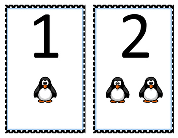 Pre-K / Pre-K ESE Math Center Cards penguins