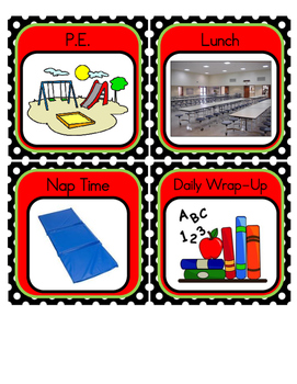 Pre-K / Pre-K ESE Visual Shedule Cards
