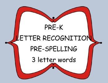 Pre-K Pre-Spelling worksheets