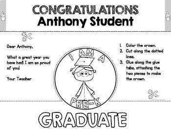 Pre-K Preschool Graduation Crowns