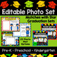 Pre-K Preschool Graduation Diplomas Invitations with Photo Frames EDITABLE